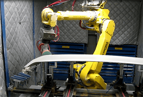 Robot cells designed for performing material removal can become a harsh environment. This operations is perfect for the M710 series. The M-710 series' precise, high speed joints also make it the best selection for this process.