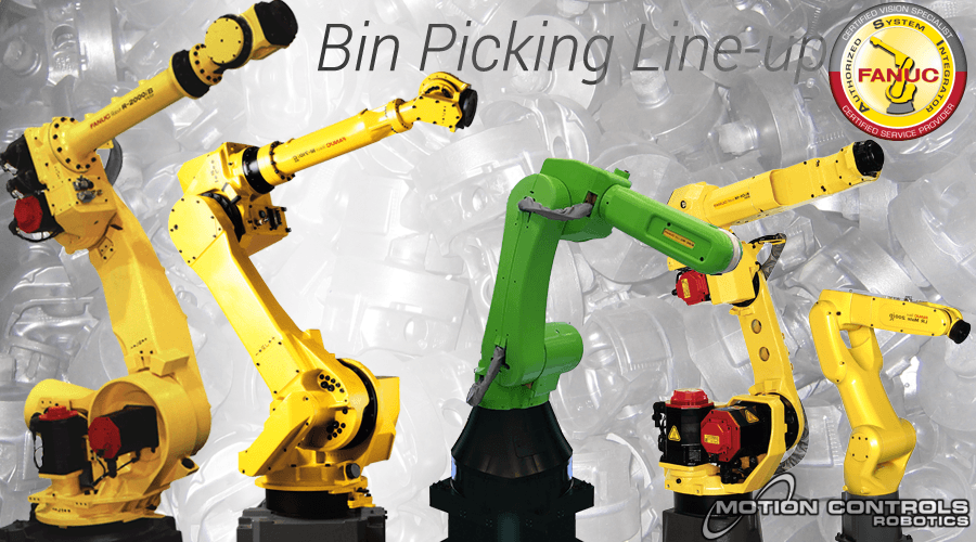 Read more about the robots that are commonly used for bin picking applications.