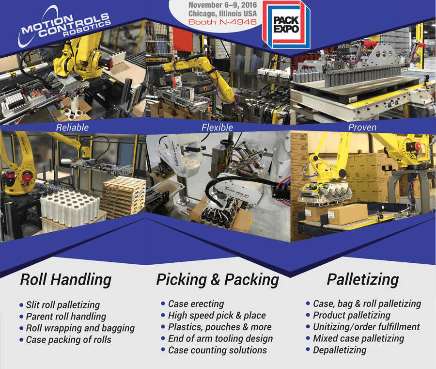 Visit Pack Expo 2016 for Robotic Know-Nos
