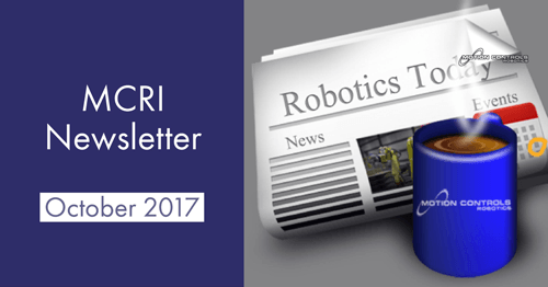 MCRI October 2017 Robotics Newsletter