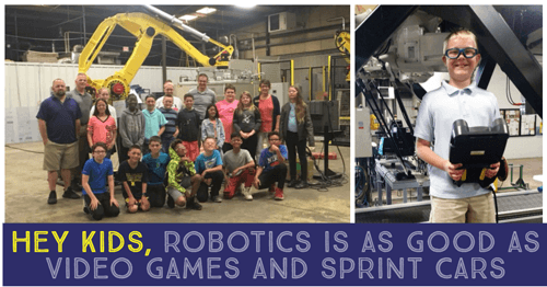 Hey Kids, Robotics is as Good as Video Games and Sprint Cars