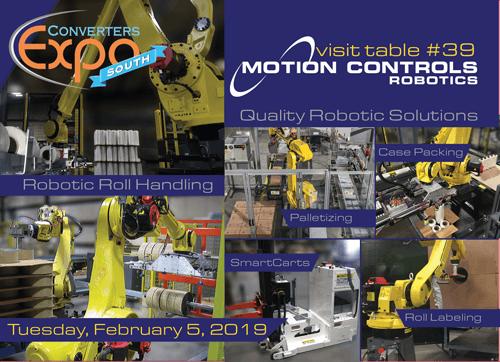Motion Controls Robotics' Robotic Roll Handling Systems