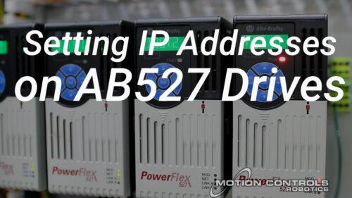 Setting IP Address on AB527 Drives
